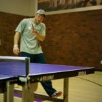 Tim Tebow table tennis forehand