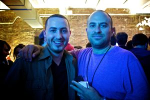 The Fader's President & Publisher, Andy Cohn (Right) and a friend