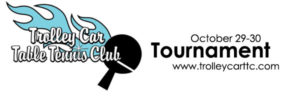 Trolley Car Table Tennis Club October Tournament