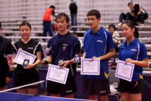JOOLA 2011 Nationals Ariel Hsing Tim Wang Peter Li Lily Zhang
