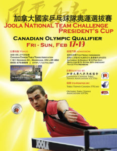 2012 JOOLA National Team Challenge - President's Cup - Canadian Olympic Qualifier