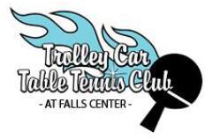Trolley Car Table Tennis Club Logo