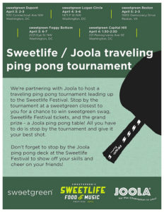 Local Event: Win Prizes at Sweetgreen Locations in Washington DC!