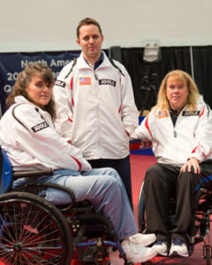 2012 US Table Tennis Paralympicans - Tara Profitt, Tahl Leibovitz, Pam Fontaine - Image courtesy of USATT