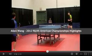 Allen Wang - 2012 North American Championships Video