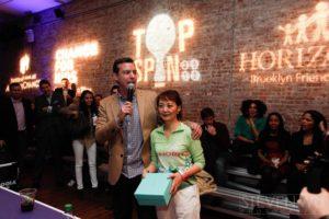 Peter Farnsworth with Team Up Challenge winner, Cecilia Chen