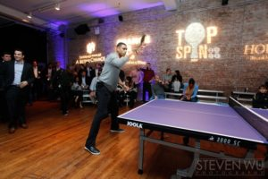Allan Houston competing in the celebrity tournament at TopSpin 2012