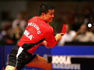 Chen Weixing With The JOOLA Chop Blade