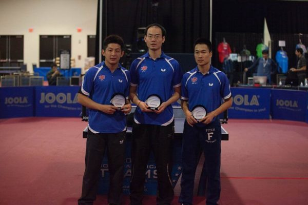 (From R to L) Tao Wenzhang, Wang Jinxin, Bob Chen with their NA Teams awards.