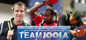 Team JOOLA at the 2014 North American Teams Championships.