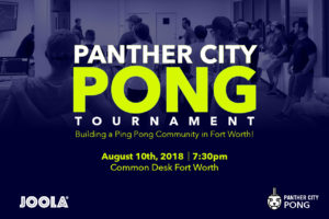 JOOLA Sponsors Panther City Pong Tournament In Forth Worth, Texas