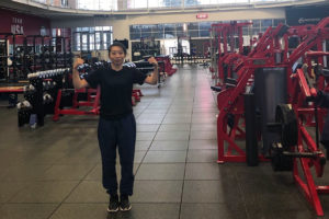 Yue Wu at the Olympic training facility in Colorado