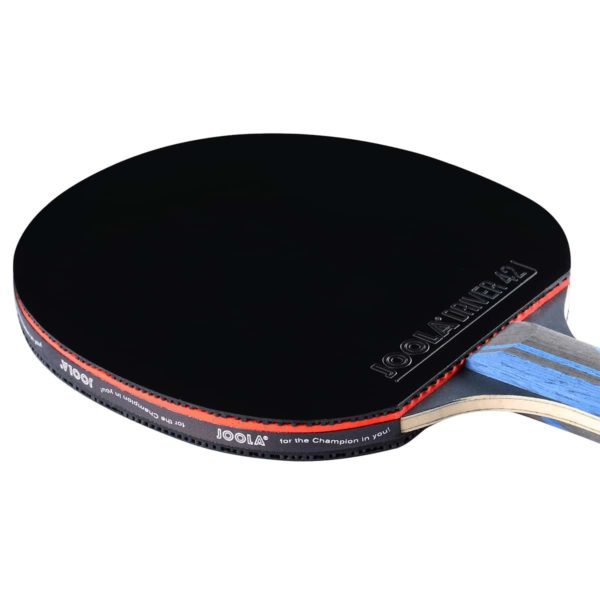 JOOLA INFINITY EDGE TABLE TENNIS RACKET WITH CARBON BLADE & DRIVER 42 RUBBER (FLARED) - 3 COLORS