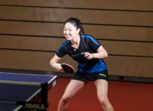 Lily Zhang Playing Table Tennis