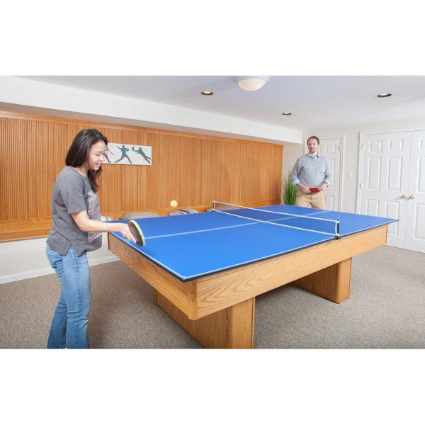 JOOLA 4-Piece Tetra Conversion Table Tennis Top with Net Set