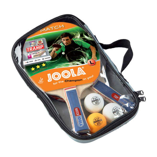 JOOLA Duo Table Tennis Set (includes 2 Rackets, 3 Balls & Carrying Case)