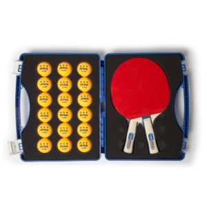 JOOLA TOUR COMPETITION Table Tennis Case Set (includes 2 PYTHON Rackets & 18 Balls)